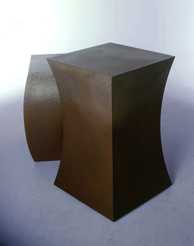 Image of two bronze tables.