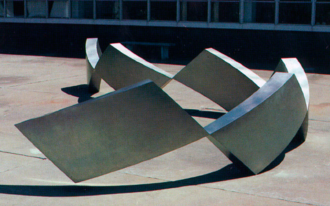 Image of a large stainless steel sculpture.