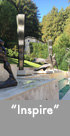 Thumbnail image of a large bronze & stainless steel water feature.