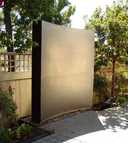 Image of a stainless steel waterwall.